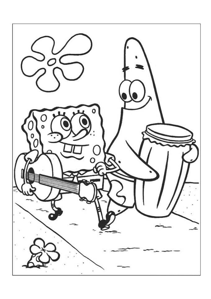 Desenhos Para Colorir Banda Do Bob Esponja
