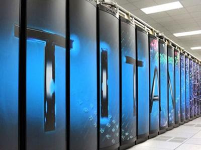 Supercomputador do Departamento de Energia de Cray Titan nos Estados Unidos, que está no Oak Ridge National Laboratory, no Tennessee