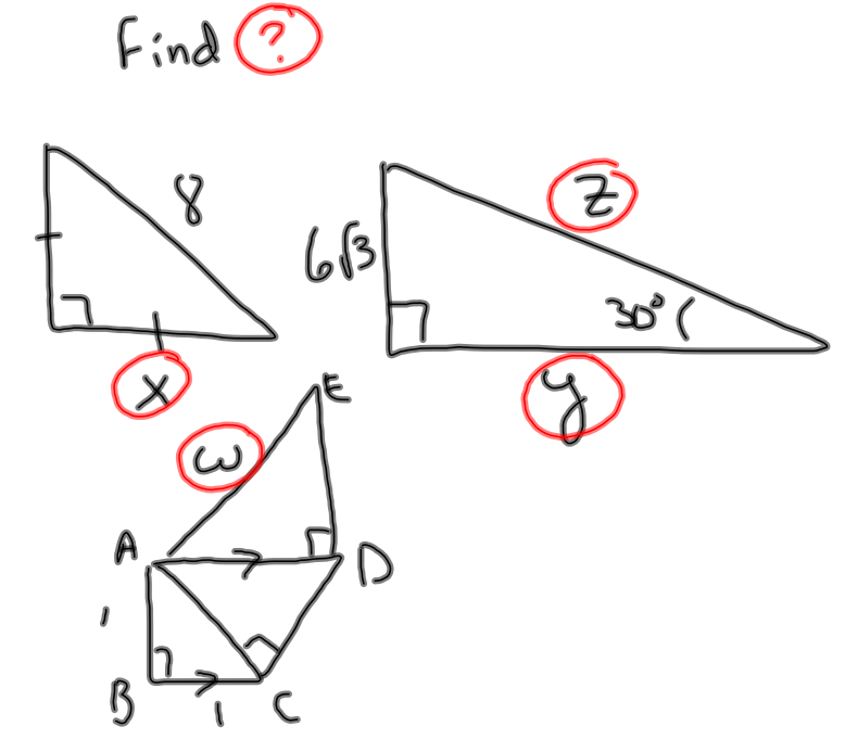 to apply what they know about special right triangles to solve this