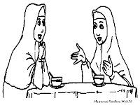 Ibu Dan Bibi Mengobrol Setelah Buka Puasa