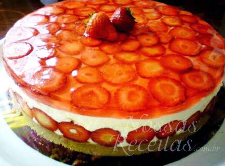 Receita de sobremesa Cheesecake de Morango