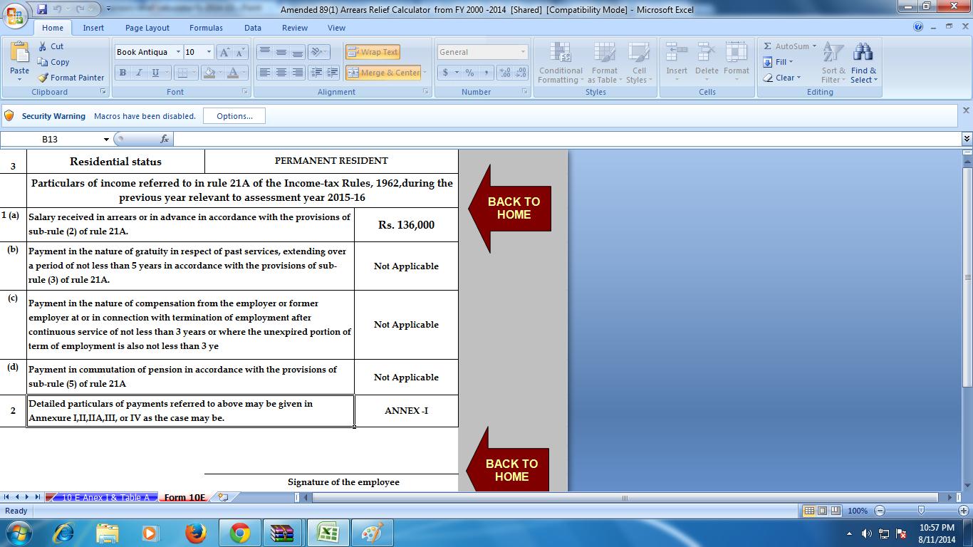 2012 estimated tax worksheet excel