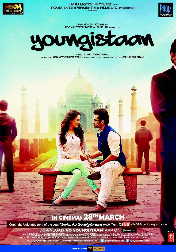 Youngistaan Movie First Look Poster Jackky Bhagnani, Neha Sharma