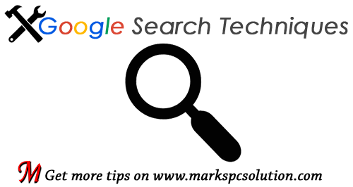Exclusive Google Search Techniques