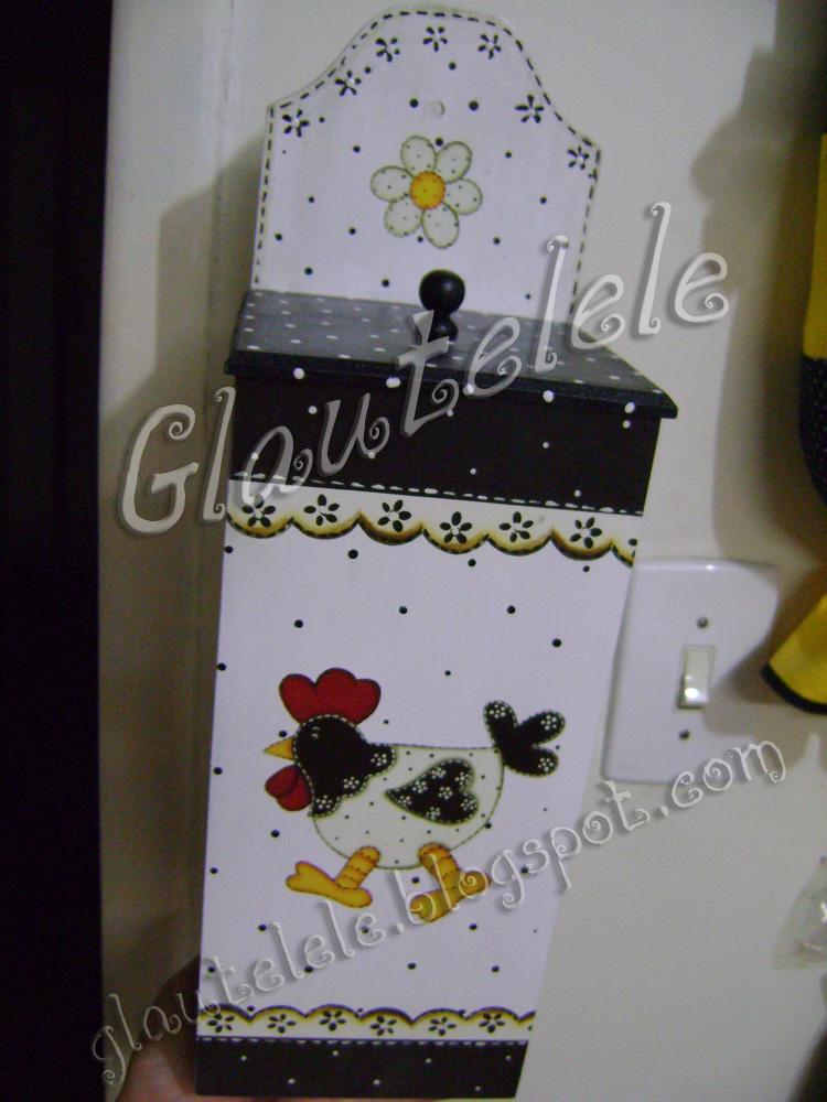 Glautelelê Kit de Galinhas para uma cozinha em Preto e Branco