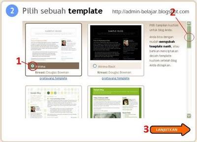 Cara Buat Blog di Blogger - Blogspot - admin-belajar.blogspot.com