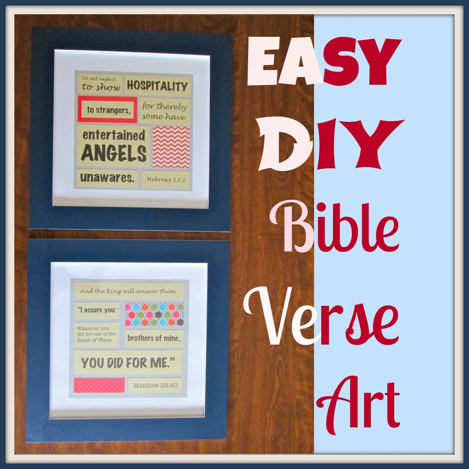 Bible Quotes For The Kitchen: Laura's Plans: Easy DIY Bible Verse Art