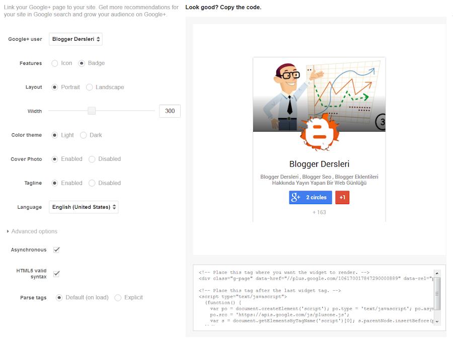 Google Plus Çemberi Özelleştirme