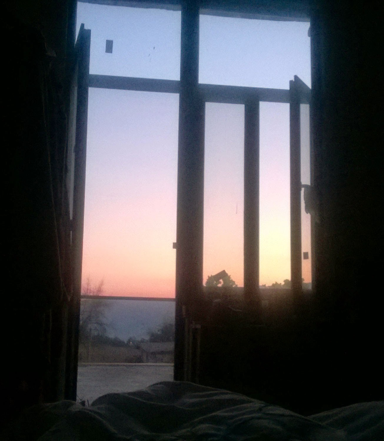Early morning sky from bed