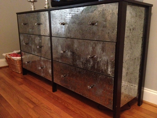 home with the hills diy mirrored dresser. Black Bedroom Furniture Sets. Home Design Ideas