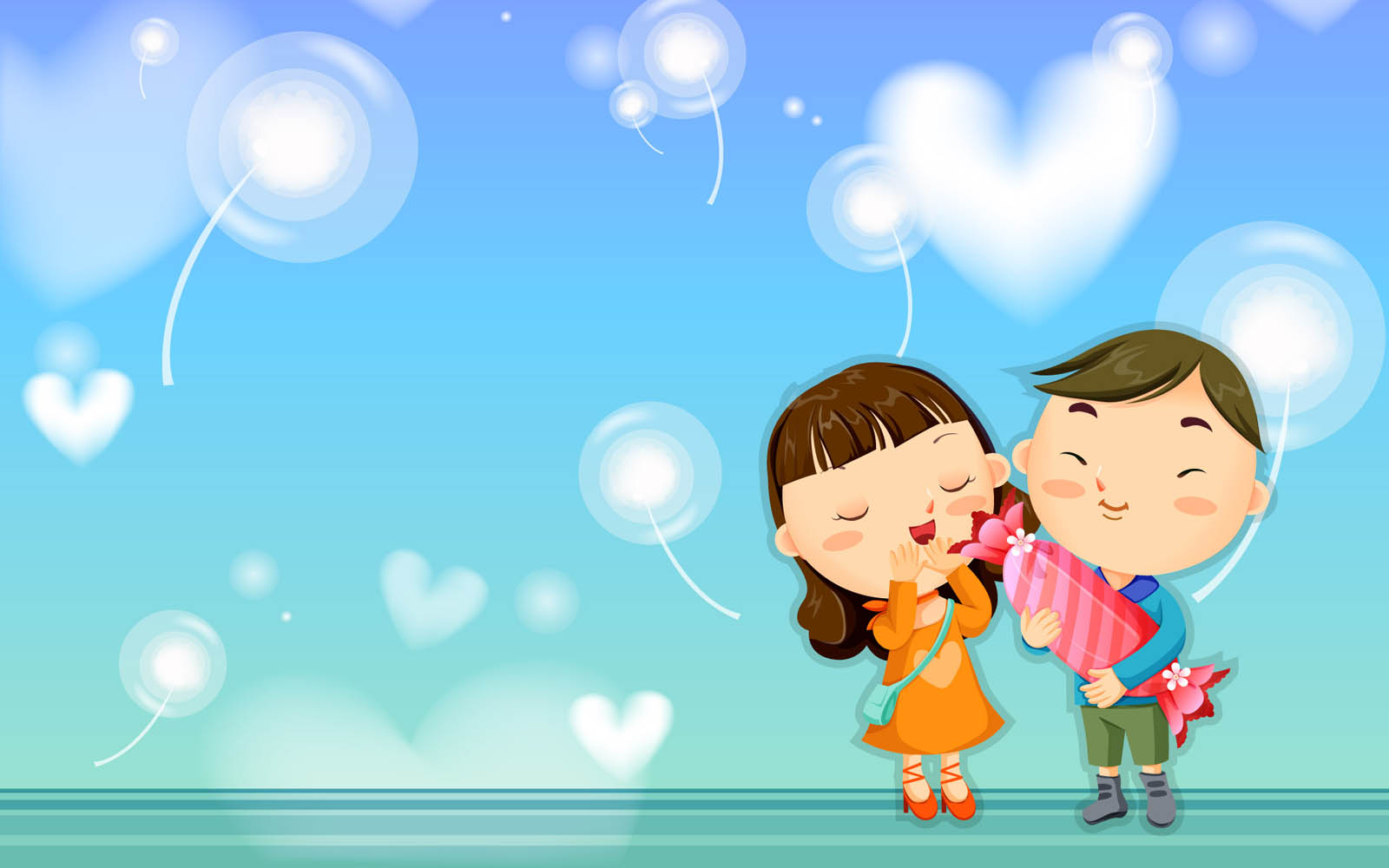 Wallpaper Kartun Cinta Romantis