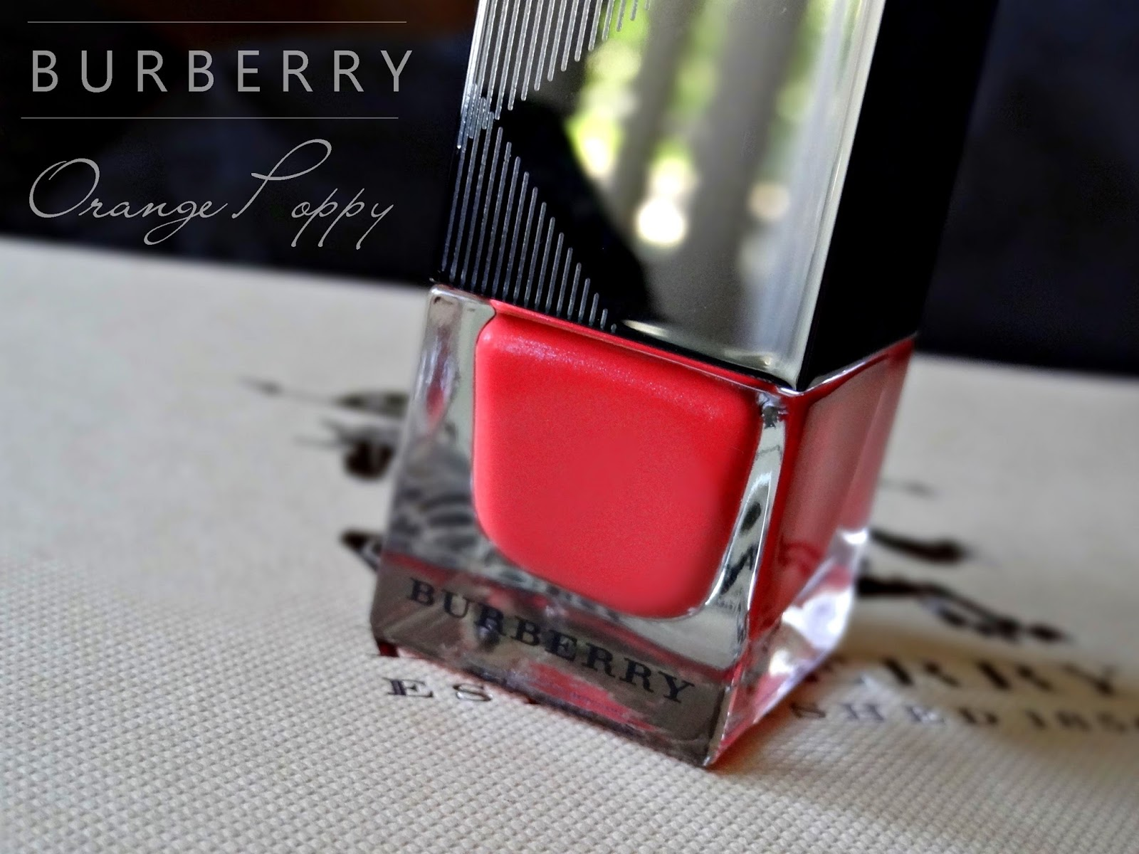 Burberry Summer Showers Makeup Collection Nail Polish in Orange Poppy No 221