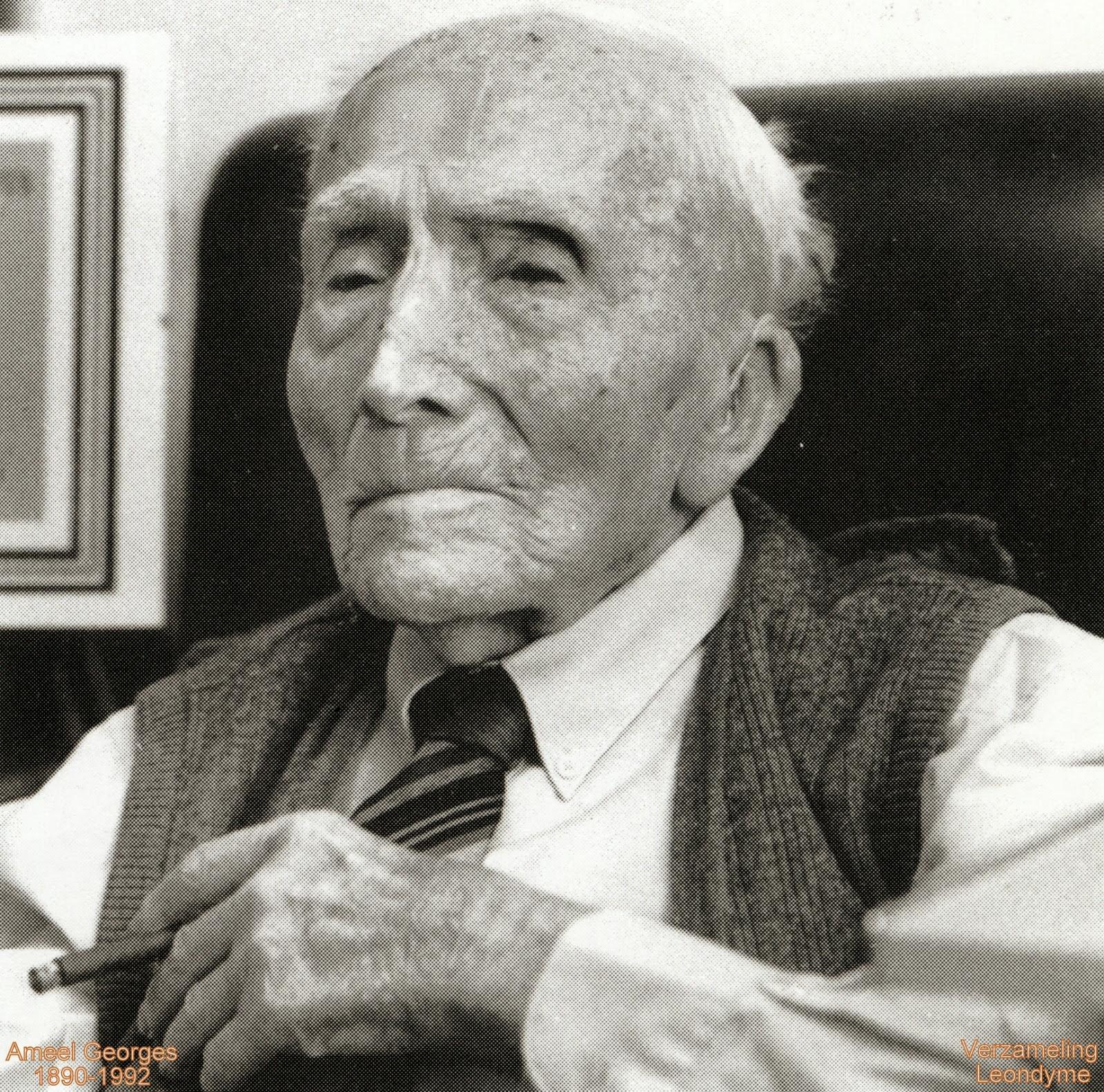 Bidprentje van honderdjarige Georges Ameel 1890-1992