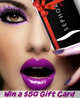 REGISTER TO WIN A $50 GIFT CARD TO SEPHORA