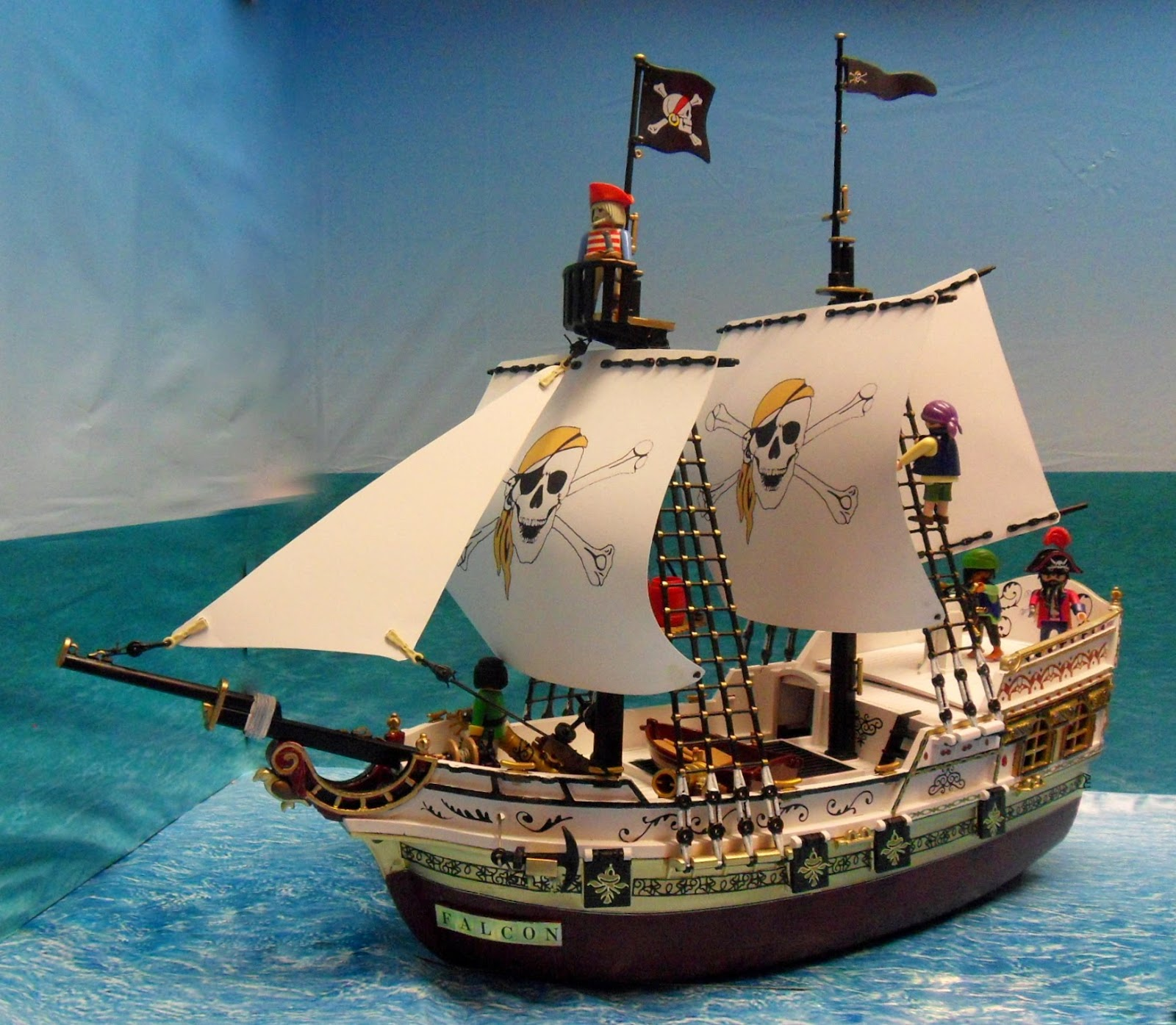 This is my latest pirate ship the Falcon.