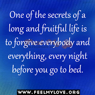 One of the secrets of a long and fruitful life
