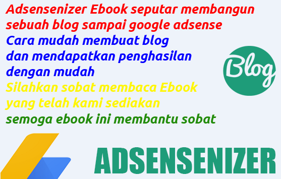 Adsensenizer Ebook Adsense dan Blogger