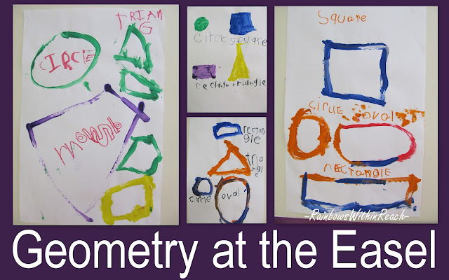 geometry for children, geometry in early childhood, shapes in art paintings