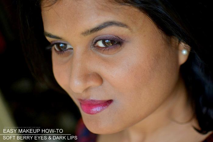 Soft Berry Eyeshadows Makeup Dark Lips Makeup Tutorial