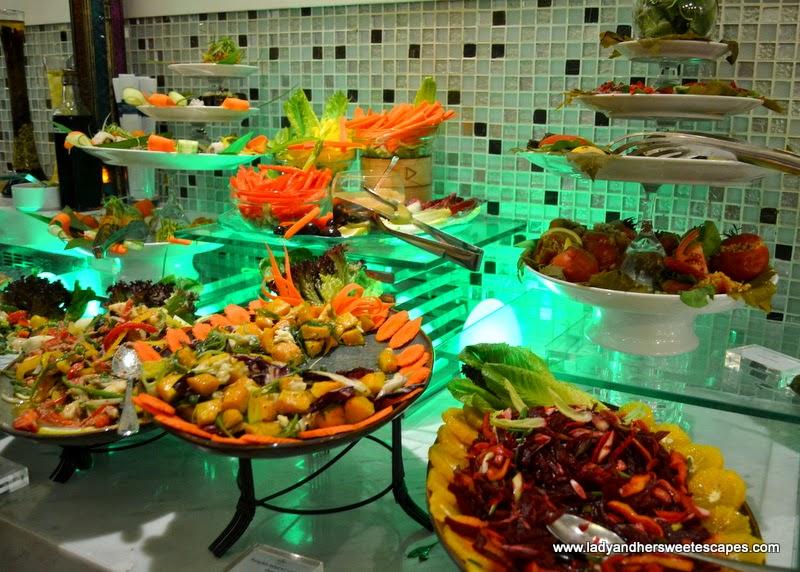 Salads at Metro! Millennium Plaza Hotel Dubai