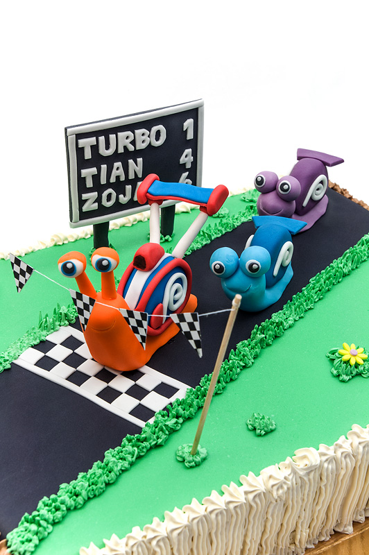 Turbo fondant cake 2nd edition close snails top