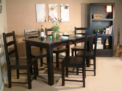 modern home interior design dining room table made of wood symbol of