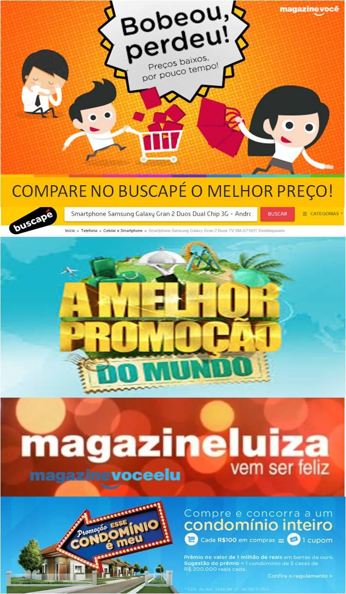 AS MELHORES PROMOÇÕES DO MAGAZINE LUIZA!