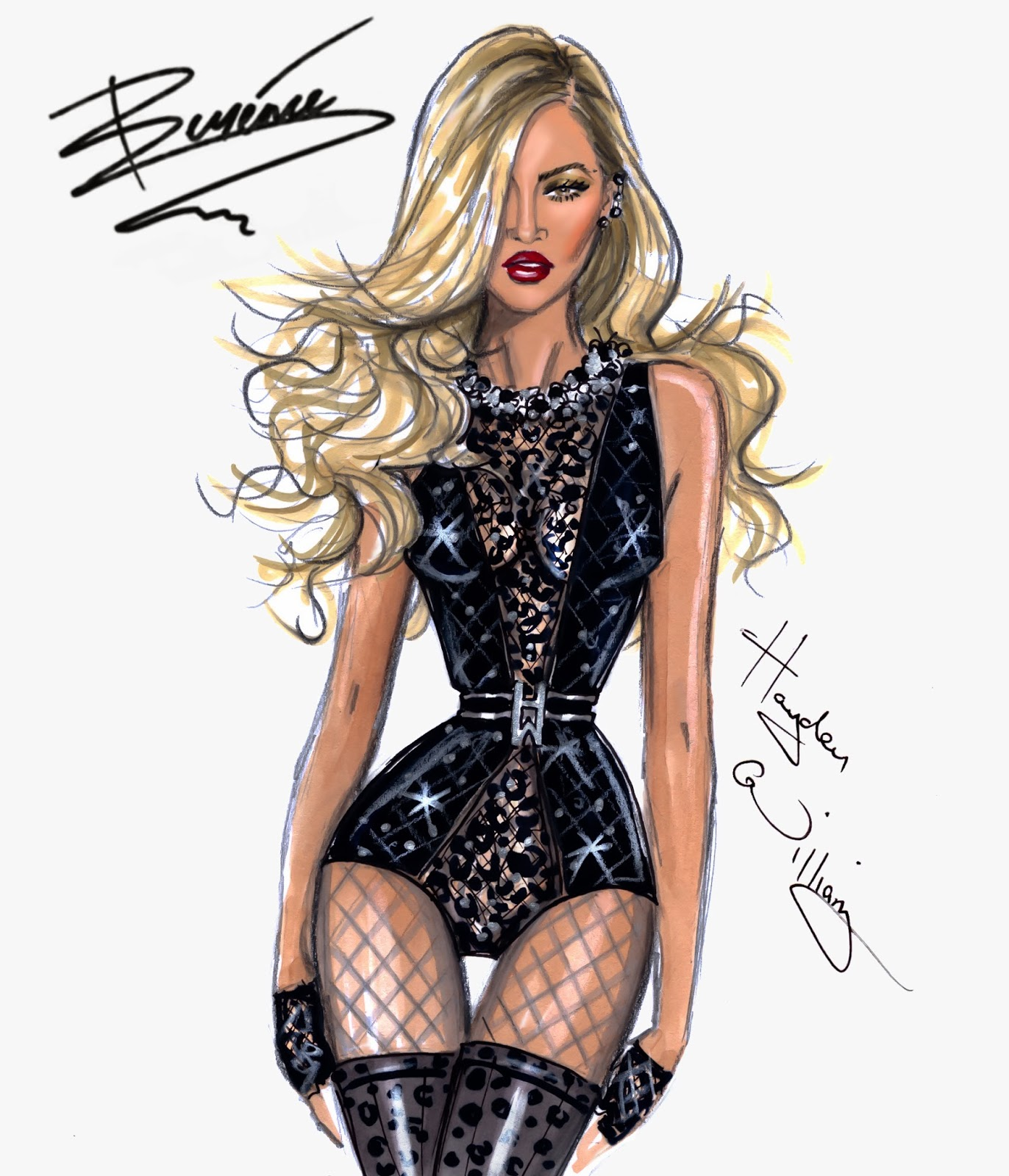 Hayden Williams Fashion Illustrations Intro Beyonc Mrs