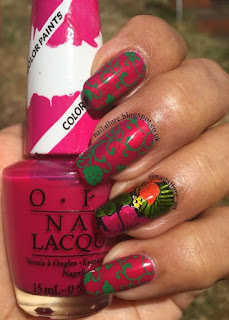 OPI Color Paints Leadlight Tropical Flowers