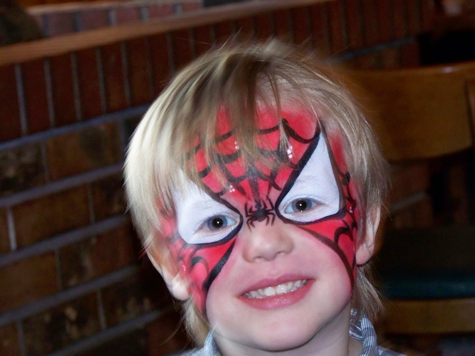 Superhero face painting stencils there was a face painter at