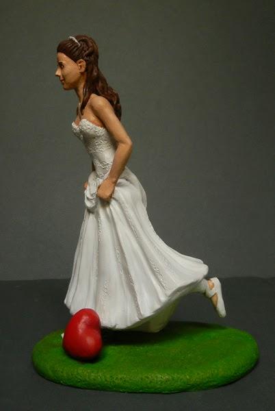 cake topper sposina calciatrice sposa sportiva sposi calcio orme magiche
