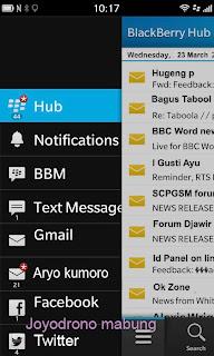 Tip cara menggunakan Blackberry Z10-3