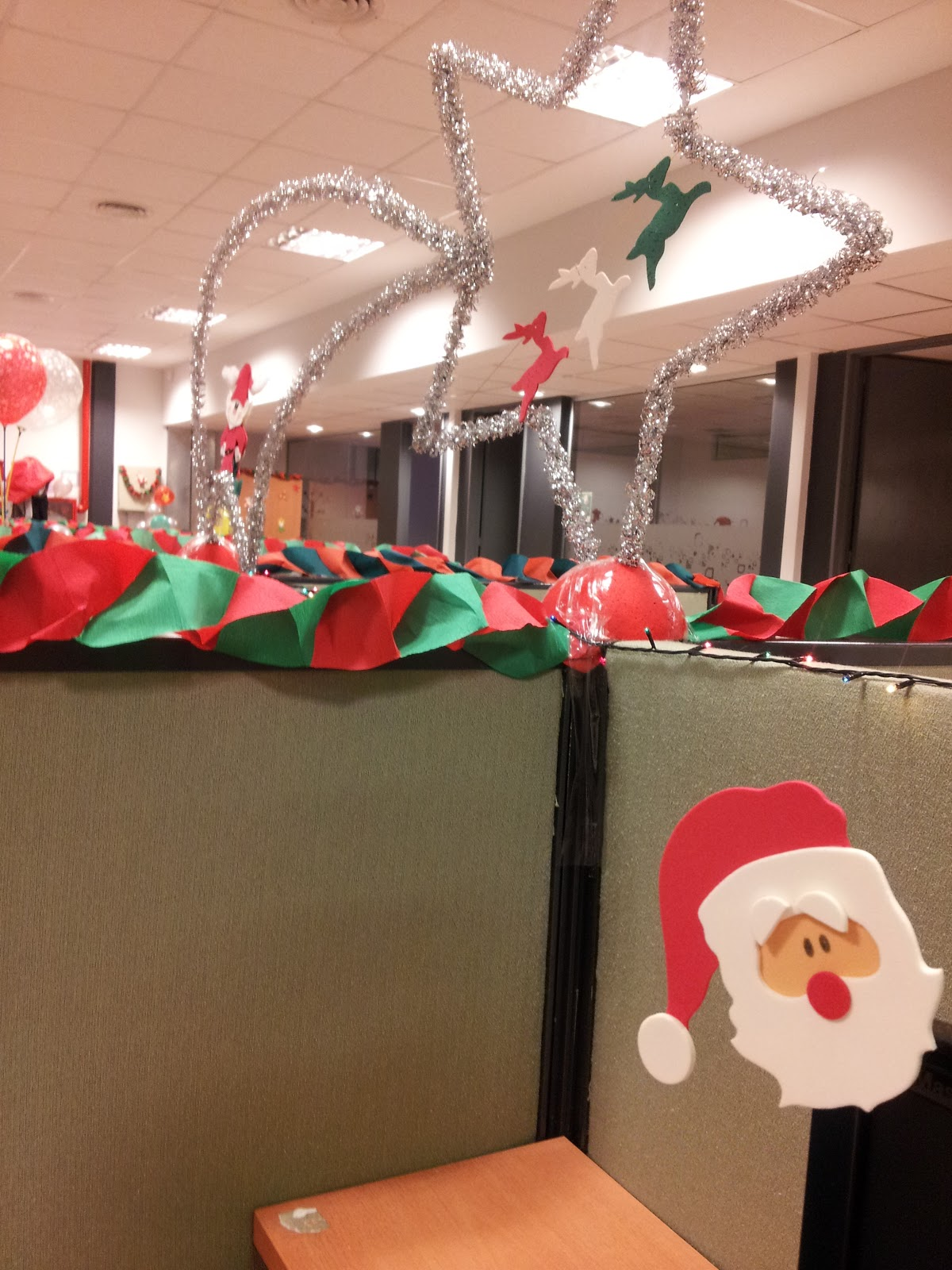 Origamizate imposible no mostrar - Decoracion de navidad para oficina ...