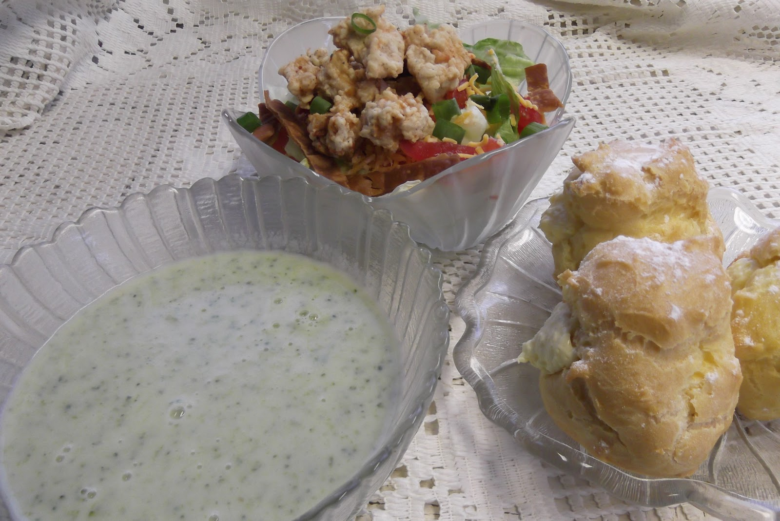 ... Blog: Fried Chicken Salad, Cream of Broccoli Soup and Cream Puffs