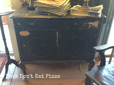 Entry Hall Cabinet - Dogs Don't Eat Pizza