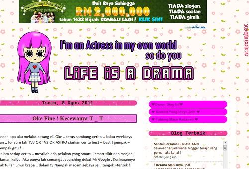 life is a drama,contest blog comel,blog comel,blog smart,wwwidayu-ekeleh.blogspot.com