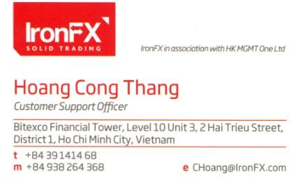 Hoàng Công Thắng - Account Manager IronFX