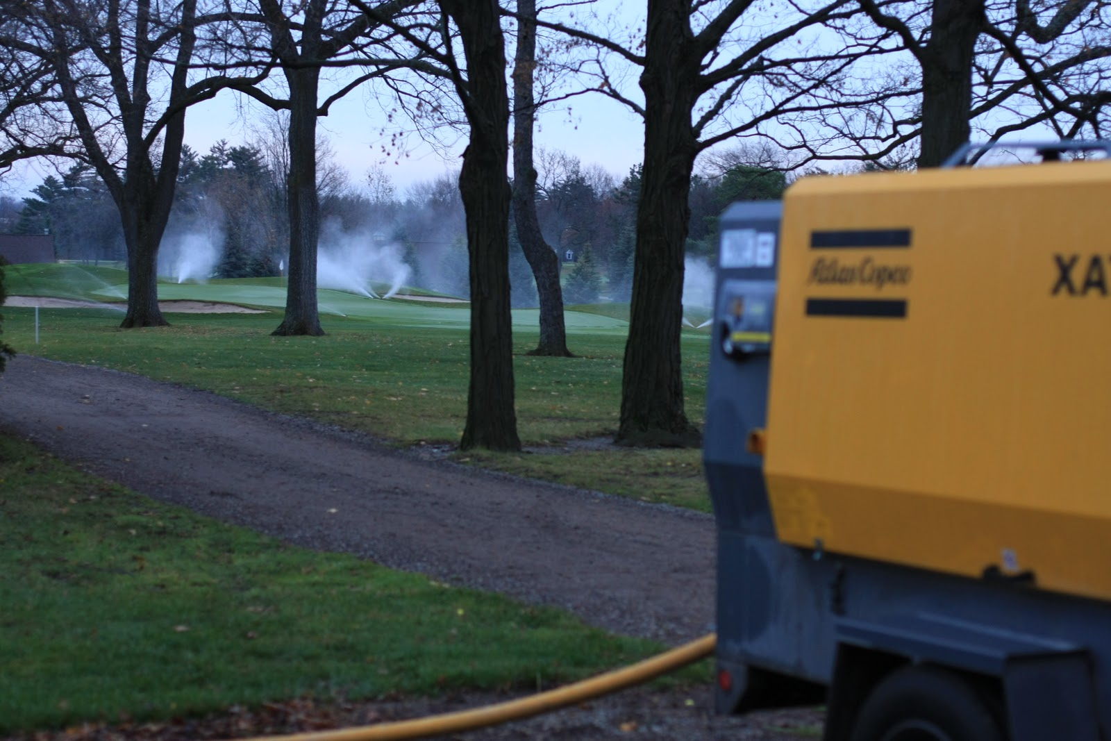 meadowbrook country club golf course maintenance winter preparation
