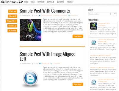 Sensational-V2.0 Responsive Blogger Template
