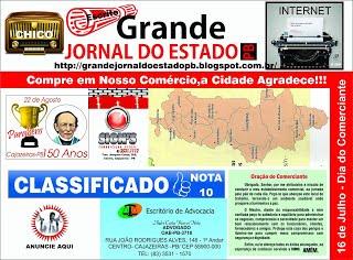 27 DE MAIO 2017 TARJA DO GRANDE JORNAL DO ESTADO PB