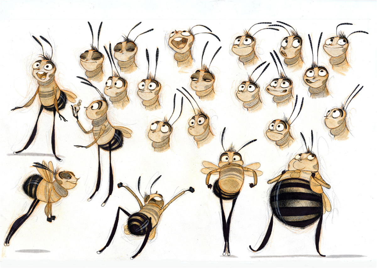 Character Design Documentary : Living lines library bee movie concept art