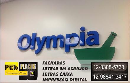 FACHADAS EM ACM COM LETRAS CAIXA  EM ACRÍLICO  LOJA OLYMPIA CAMPINAS-SÃO PAULO