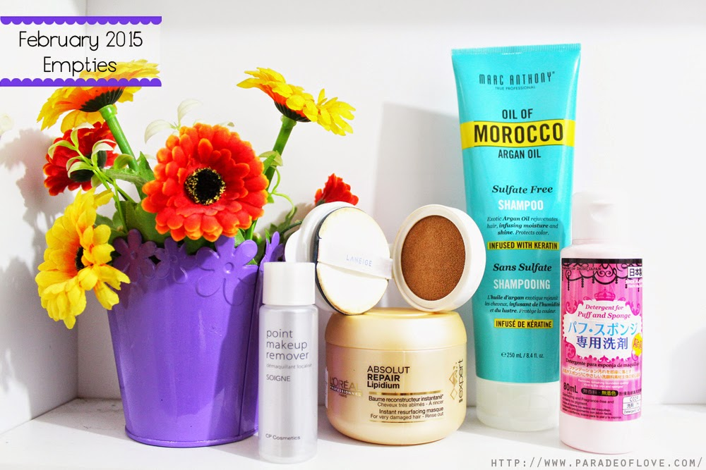 February 2015 Beauty Empties