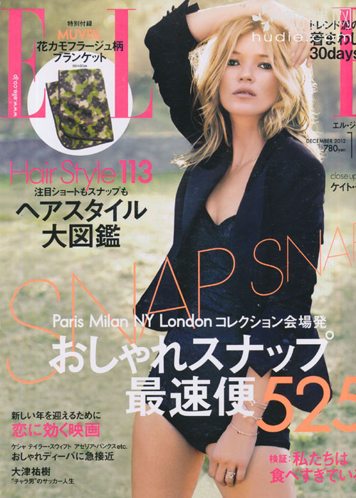 ELLE JAPON (エルジャポン) December 2012年12月【表紙】 ケイト・モス Kate Moss japanese fashion magazines