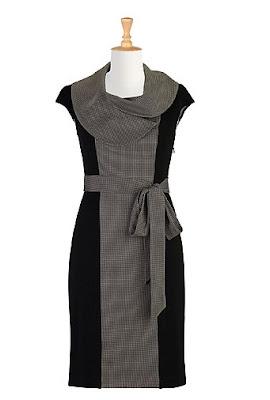 eShakti Cross Print Dress