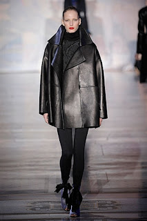 Giles Deacon, A/W 2011, leather jacket