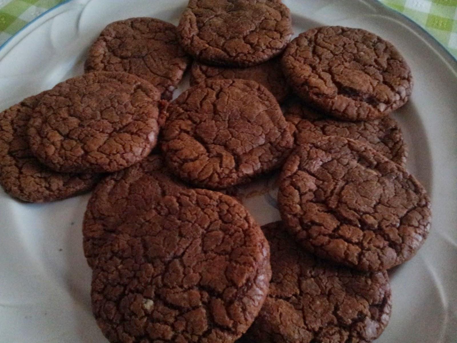 Foto de galletas de nutella en un plato