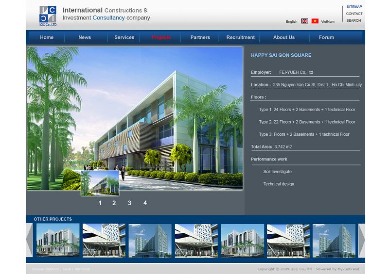 thiết kế website công trình xây dượng