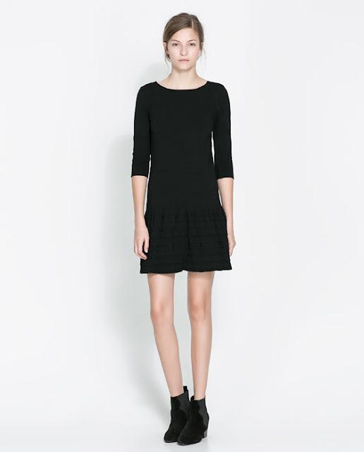 yarım kol siyah kısa elbise