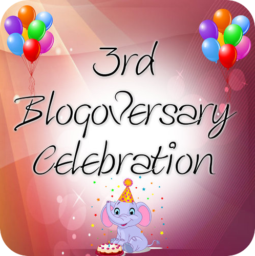 3rd Blogoversary Celebration Giveaway! (INT)